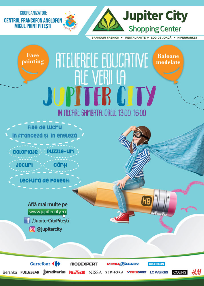 Atelierele Educative ale Verii la Jupiter City